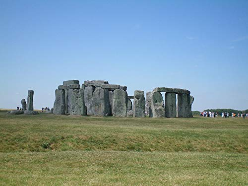 Home Comforts Canvas Print Stonehenge England Green Oxford Cliff Stretched Canvas 32 x 24 - Green Oxford Canvas