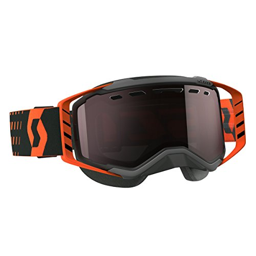 Scott Prospect Adult Snowmobile Goggles - Black/Orange/Chrome/One Size by SCOTT
