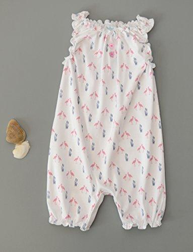 Plumas bebé niñas ropa Pima algodón sin mangas de una sola pieza sunsuit burbuja para bebé Pelele: Amazon.es: Bebé
