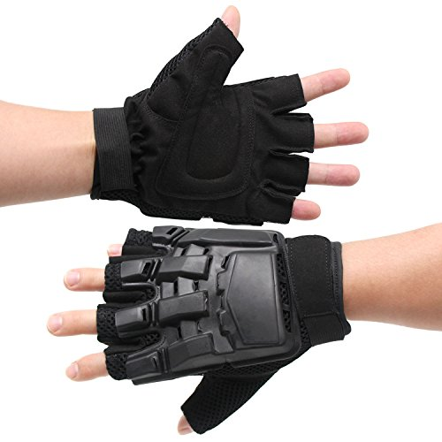 Xcellent Global Half Finger Airsoft Gloves for Riding, Sporting, Shooting and Paintball Hunting, Black, Size XL FS035XL by Xcellent Global