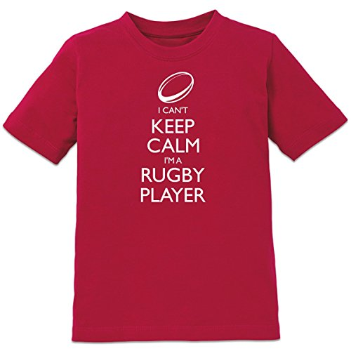 Shirtcity I Can't Keep Calm I'm A Rugby Player Kids' T-Shirt 98-104 (104 Rugby)