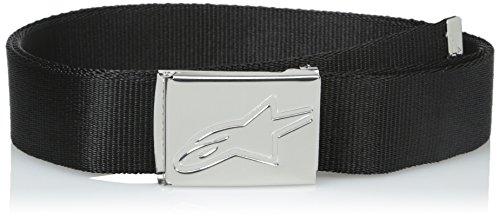 Alpinestars Belt - ALPINESTARS Men's Friction Web Belt, Black/Chrome, One Size