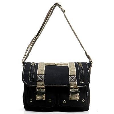 5b8ff4117a70 Ahmik Military Canvas Vintage Zipper Flap Messenger Bag Cross Body Bag 3292  delicate