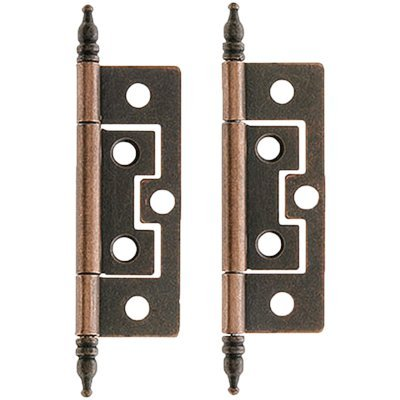 H-57 STEEPLE NON-MORTISE BUTT HINGE - 2 PC/PACK + FREE BONUS (SKELETON KEY (Steeple Door Hinge Finials)