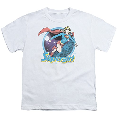 (Superman Supergirl Airbrush Unisex Youth T Shirt for Boys and Girls)