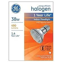 Ge Floodlight Bulb 38 W 490 Lumens Par 2750 K Boxed