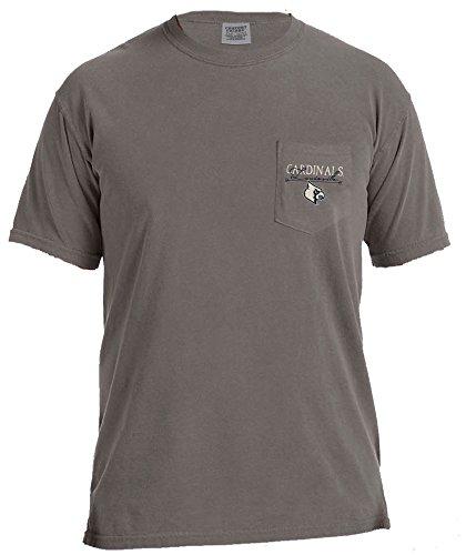 NCAA Louisville Cardinals Adventures Short Sleeve Comfort Color Pocket Tee, Large, Grey