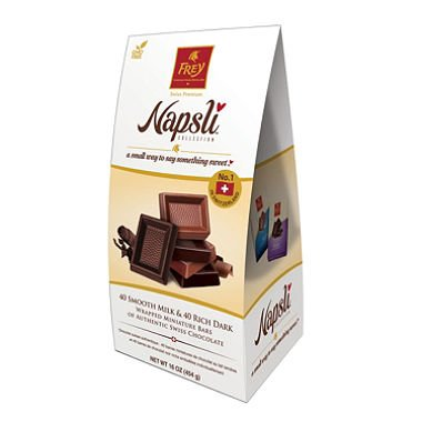 Frey Napsli Smooth Milk Chocolate and Rich Dark Chocolate Miniature Bars (16 oz.) (2-Pack)