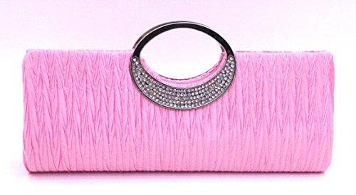 avec couleur de Strass Pochette Mariage Main Portefeuille choisir Y a Ceremonies pour Pink Cloud Different party Plise Sac Femmes Soiree xBpRTxfZ