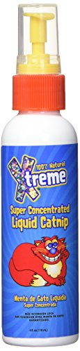 Xtreme Catnip Spray, 4 oz. - 100% Natural Organically Grown, Super Concentrated Liquid Catnip - No Mess or Clean-Up - Spray on Toys, Scratching Posts, Food and More