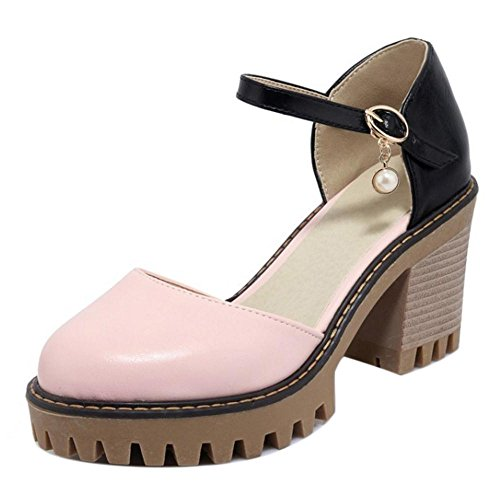 Strap CarziCuzin Summer 6687 Pink Ankle Pumps Women qwawS8T