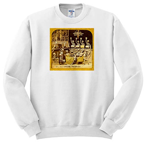 (Scenes from The Past - Stereoview - 1800s French Diabolerie Vintage Stereoview The Infernal Lottery - Sweatshirts - Youth Sweatshirt Large(14-16))