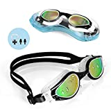 TOPLUS Swim Goggles, Goggles Adult Swimming Goggles Kids Youth Men Women Swim Goggles for Women No Leaking Anti Fog UV Protection with Free Protection Case