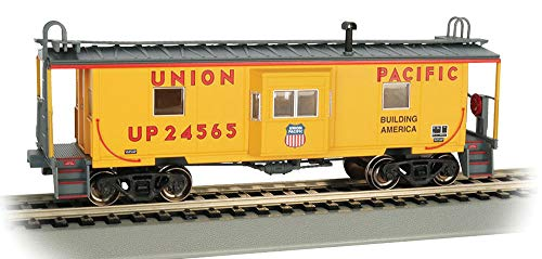 (Bachmann Bay Window Caboose Caboose, Prototypical Yellow)