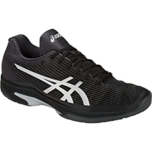 ASICS Men's Solution Speed FF Tennis Shoes, Black/Silver, Size 6.5