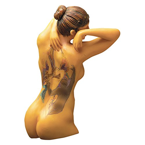 (Design Toscano Fairy Maiden Tattooed Woman Wall Sculpture)