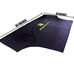 "All Weather Plus Magnetic Windshield Cover For Sun Shade - Snow And Ice - Sun Reflector - Frost Guard Protector - Fits Most Vehicles ( 84"" x 49"") - For All Seasons And All Weather"