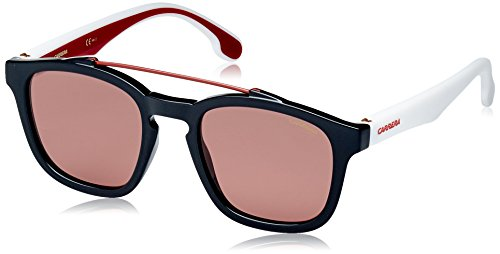 Carrera 1011/S Sunglasses CA1011S-0807-4S-5222 - Black Frame, Burgundy Lenses, Lens Diameter - Sunglasses Carrera 22