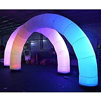 Amazon.com: Arco hinchable AAA con luces RGB y dos ...