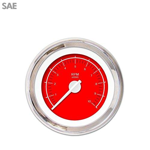 VX Red Tachometer Gauge GAR148ZEXIABCD Aurora Instruments