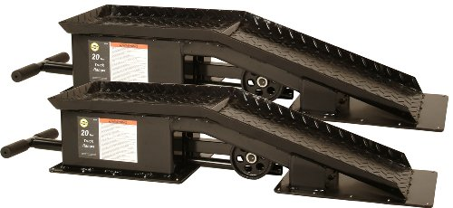 Omega 93200 Black Truck Ramp - 20 Ton Capacity ()