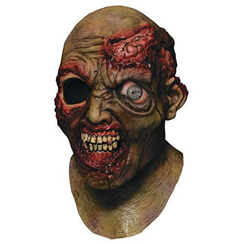 Digitally Animated Wandering Eye Zombie Head Mask -