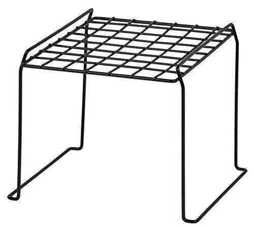 Wire Storage Lockers (IRIS 8-inch Stackable Wire Locker Shelf, Black)