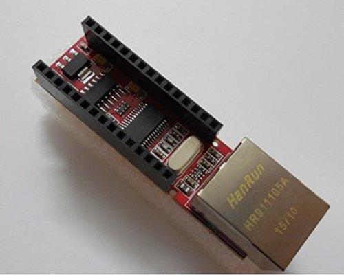 Exiron 2PCS ENC28J60 Ethernet Shield for Arduino Nano 3.0 RJ45 Webserver Module
