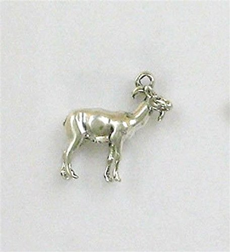 - Sterling Silver 3-D get my goat Goat Charm Jewelry Making Supply, Pendant, Charms, Bracelet, DIY Crafting by Wholesale Charms