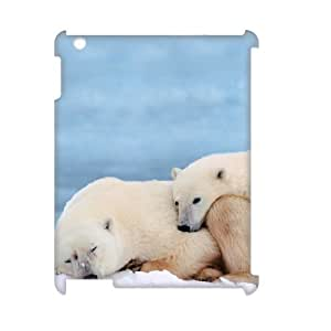 TOSOUL Polar Bear Pattern 3D Case for iPad 2,3,4