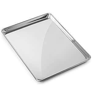 "Gridmann 15"" x 21"" Commercial Grade Aluminium Cookie Sheet Baking Tray Pan Three Quarter Sheet - 1 Pan"