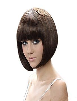 razonable en precio extensiones pelucas sintéticas cortas bob estilo , multicolor