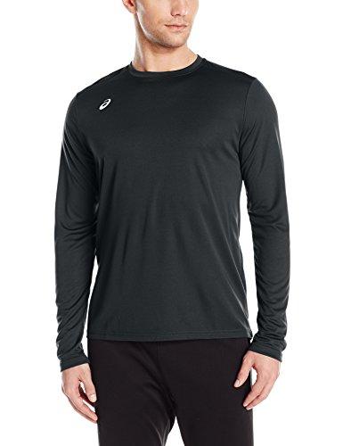 ASICS Men's Circuit 8 Warm-up Long Sleeve, Black, Large