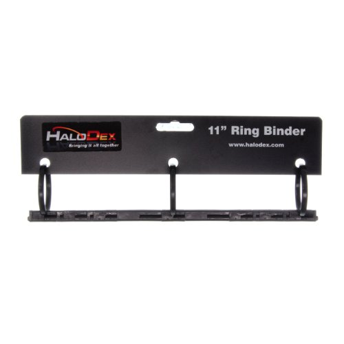 "UPC 898368002541, 3-Ring Binder by HaloDex, Black, 1.5"" Rings"