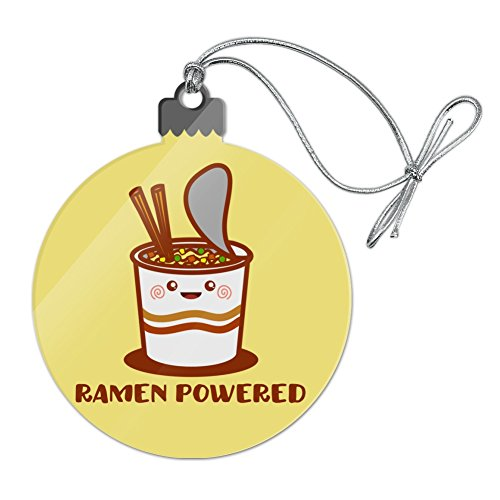 (GRAPHICS & MORE Ramen Powered Noodle Soup Chopsticks Acrylic Christmas Tree Holiday Ornament )