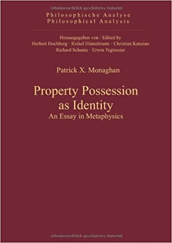 com property possession as identity an essay in property possession as identity an essay in metaphysics philosophical analysis