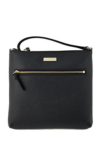 Kate 10 Inch Spade (Kate Spade New York Rima Laurel Way Leather Crossbody Bag in Black)