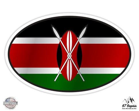 Kenya Flag Oval - 12