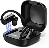 HOTWAV True Wireless Bluetooth 5.0 Earbuds for Running IPX7 Waterproof Noise Cancelling Stereo Earhook Headphones with Mic for Outdoor Exercise 2019