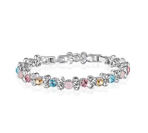 CDE Women's Bracelet, Tennis Bangles for Woman Enriched with Swarovski Crystal Jewelries, Mother's Day Gifts