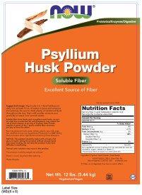 NOW Psyllium Husk Powder,12-Pound