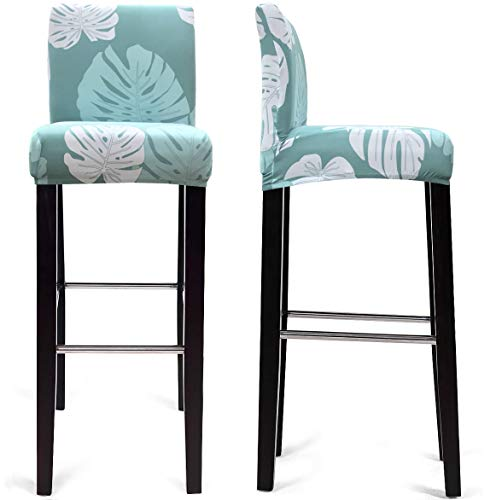 MOCAA Dining Chair Covers,Bar Stool Chair Covers, Barstool Slipcovers 2 Pack (Style D)