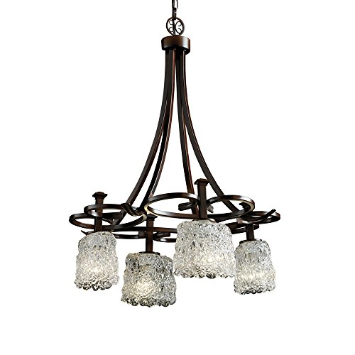 Justice Design Group Veneto Luce 4-Light Arcadia Chandelier, ()