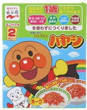 (Nagatanien Anpanman Hayashi Pork Mini Pack 100g (50g × 2 Bags))