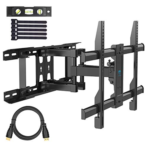 PERLESMITH TV Wall Mount Swivels, Tilts, Extends - Full Motion TV Mount with Articulating 16