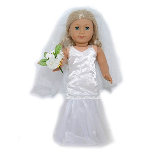 Delight Bouquet (Wedding Day Delight An Elegant Ensemble With Dress, Veil and Bouquet for American Girl Dolls)