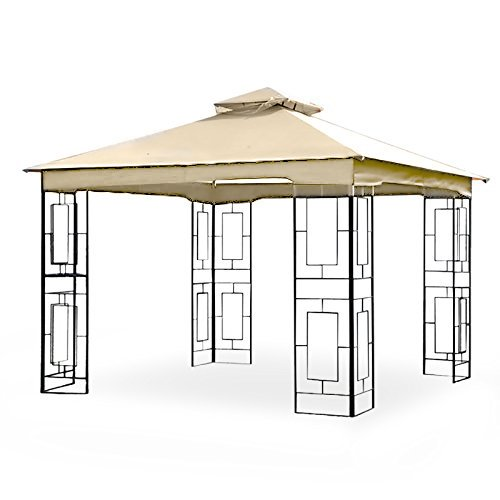 - Garden Winds LCM1157B Treasures Geo Gazebo Replacement Canopy, Beige