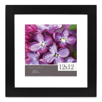 Gallery Solutions 12x12 Black Float Frame For Floating Display of 10x10 Image