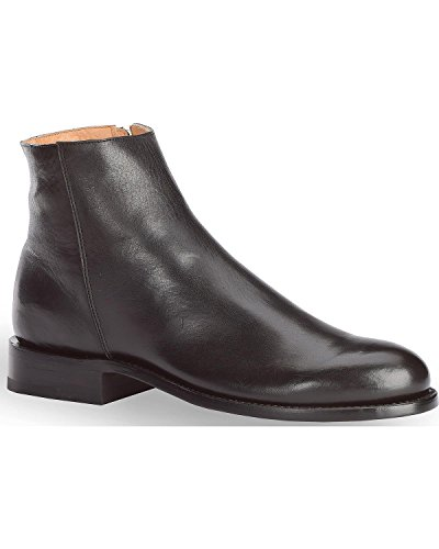 ��S Smooth Leather Zipper Urban Roper Boot Round Toe Black 10.5 EE (Smooth Mens Roper)