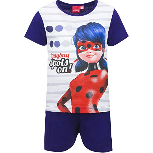Miraculous Ladybug Girls Tshirt and Pyjama Set 100% Cotton (Blue, 8 Years)